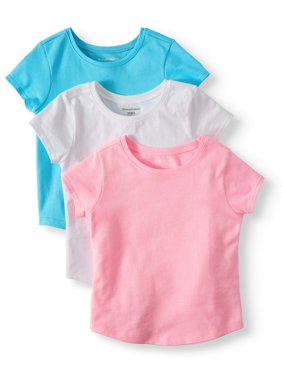 Solid T-Shirts, 3pc Multi-Pack (Toddler Girls)