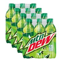 (4 Pack) Mountain Dew Soda, 6 Count, 16.9 fl. oz. Bottles