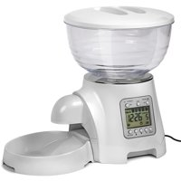 Paws & Pals Paws & Pals Automatic Pet Dog Cat Feeder Food Bowl - Programmable Voice Recorder, Timed Portions, Meal Control