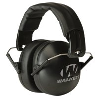 WALKERS GAME EAR YOUTH & WOMEN FOLDING EAR MUFF 27 DB BLACK