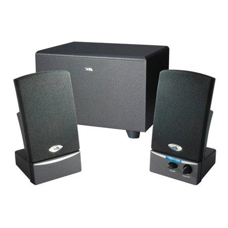Cyber Acoustics 3-Piece Subwoofer & Satellite Speaker - Go Impact Acoustics Pc