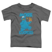 15e54012efc78a Toddler  Sesame Street- More Cookies Apparel Baby T-Shirt - Grey. Price