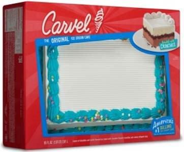 Carvel Party Size Ice Cream Cake Chocolate And Vanilla Crunchies 95 Oz