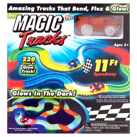 Magic Tracks 11ft Bendable, Flexible, and Glowing Racetrack As Seen on TV](Bike Race Halloween Track 5)