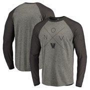 1fd3d5a277c Villanova Wildcats Fanatics Branded Quad Tri-Blend Raglan Long Sleeve  T-Shirt - Ash