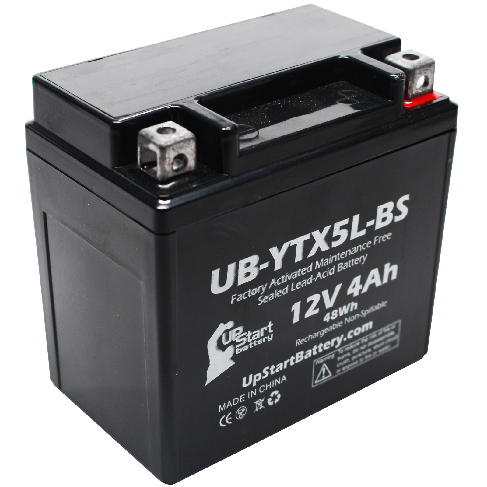 3-Pack Replacement 2004 Suzuki LT80 QuadSport 80 80CC Factory Activated ATV Battery UB-YTX5L-BS 12V 4Ah Maintenance Free