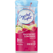 (6 Pack) Crystal Light Raspberry Lemonade Drink Mix, 6 count Canister