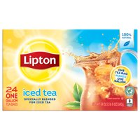 Lipton Unsweetened Gallon-Sized Black Iced Tea Bags, 24 ct