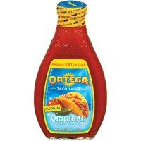 (2 Pack) Ortega® Original Medium Taco Sauce 16 oz. Glass Bottle