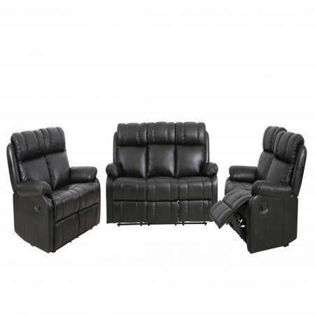 Loveseat Chaise Reclining Couch Recliner Sofa Chair Leather Accent