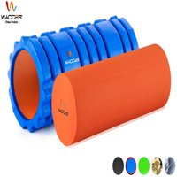 """Wacces 2 in 1 High Density Deep Tissue Massage Therapy Foam Roller with EVA Insert 13"""" - Blue"""