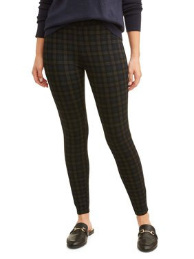 Women's Plaid Ponte Pants
