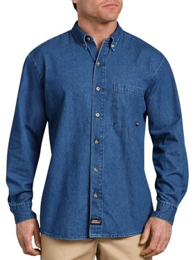 Men's Long Sleeve Button Down Denim Shirt