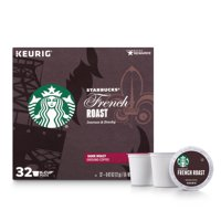 Starbucks French Roast K-Cup Coffee Pods, Dark Roast, 32 Count