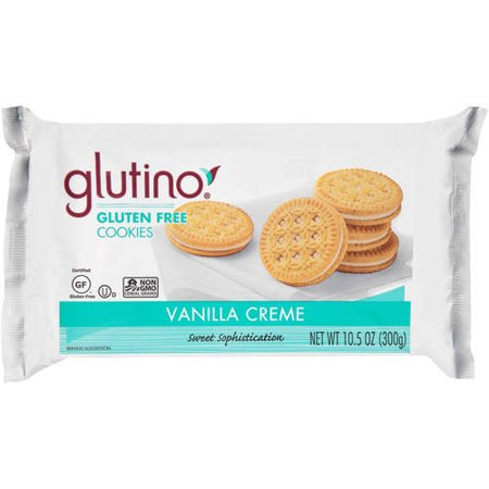 - (2 Pack) Glutino Gluten Free Vanilla Creme Dream Cookies, 10.6 oz