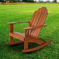 Mainstays Wood Adirondack Rocking Chair, Natural