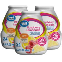 (10 Pack) Great Vaue Drink Mix, Raspberry Lemonade, 1.62 Fl Oz, 1 Count