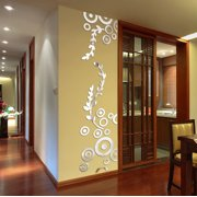Creative Circle Ring Acrylic Mirror Wall Stickers 3D Home Room Decor Decals SL. Product Variants Selector. Silver