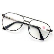 4c385f2b91 Metal Aviator Reading Glasses - Spring Hinge Square Large Lens Reader