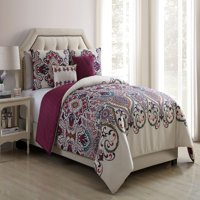 VCNY Home Amherst Boho Medallion 4/5 Piece Reversible Bedding Comforter Set with Decorative Pillows