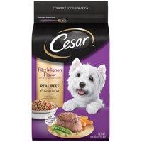 CESAR Small Breed Dry Dog Food Filet Mignon Flavor with Spring Vegetables Garnish, 5 lb. Bag