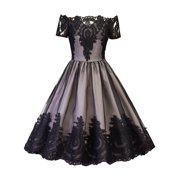 8a755f9c108 Off Shoulder Dresses for Women Cocktail Vintage Style 50s 60s Short Sleeve  Retro Pinup Rockabilly Evening