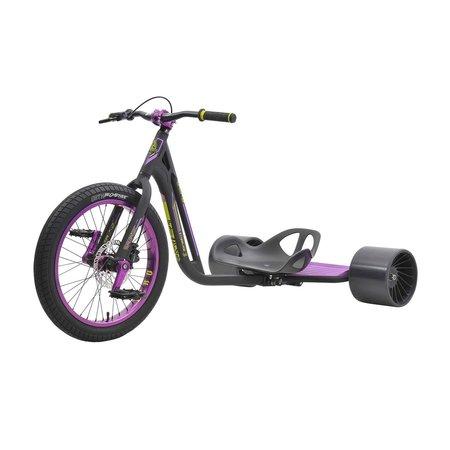 Triad Drift Trike - Syndicate 3- Adult Sized Tricycle w/ Anodized 50mm wheel, Black/Purple - Adult Sized Green Machine