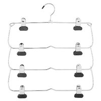 Whitmor 4 Tier Folding Skirt Hanger Chrome/Black