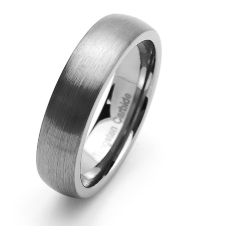Free Engraving Men Women Personalized Inside Engraving Tungsten Carbide Wedding Band Ring 6mm Classic Domed Ring