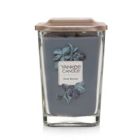 Yankee Candle Elevation Collection with Platform Lid Large 2-Wick Square Candle, Dark Berries