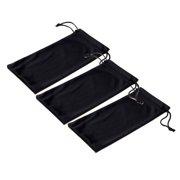 ba3c2b8d717 Emblem Eyewear - Black Microfiber Pouch Bag Soft Cleaning Case Sunglasses  Eyeglasses Glasses