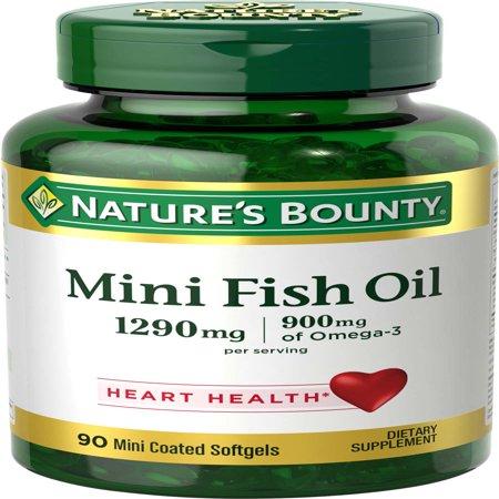 Nature's Bounty Mini Fish Oil Omega-3 Softgels, 1290 Mg, 90