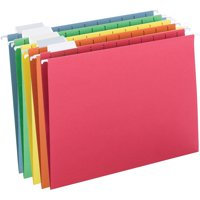 Smead Hanging File Folder, 1/5 Tab, Assorted Colors, Letter Size, 25/Box