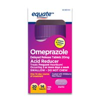 Equate Omeprazole Acid Reducer, Wildberry Mint Tablets, 20mg, 14 Ct