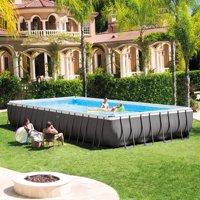 "Intex 32' x 16' x 52"" Rectangular Ultra Frame Above Ground Pool with Sand Filter Pump"
