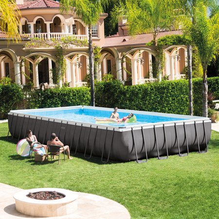 Intex 32 39 x 16 39 x 52 rectangular ultra frame above ground - Largest above ground swimming pool ...