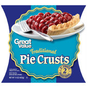"""Great Value Traditional 9"""" Pie Crusts, 15 oz, 2 Count"""