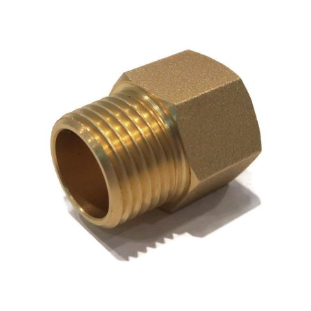 BRASS LEAD FREE STRAIGHT PIPE FITTING ADAPTER 1/2