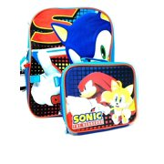 a5e9d06d90 Sonic The Hedgehog Boys School Backpack Lunch Box Combo Set Black Kids