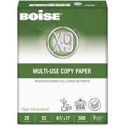 "Boise X-9 Copy Paper, 92 Brightness, 8.5"" x 11"", White, 5000 Sheets"