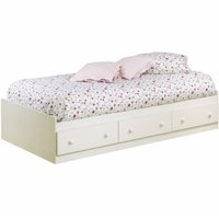 South Shore Summer Breeze Twin Storage Bed (39'') with 3 Drawers, Multiple Finishes
