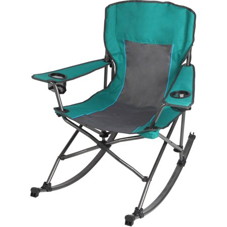 Ozark Trail Quad Fold Rocking Camp Chair With Cup Holders