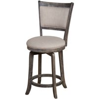French Country Swivel Counter Height Stool