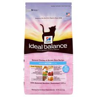Hill's Ideal Balance Kitten Natural Chicken & Brown Rice Recipe Dry Cat Food, 6 lb bag