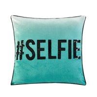 Your Zone # Selfie Sequin Decorative Pillow