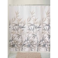 "InterDesign Anzu Fabric Shower Curtain, Standard 72"" x 72"", Black/Tan"