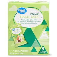 Great Value Tropical Trail Mix, 1.75 Oz., 8 Count