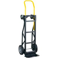 """Harper Trucks 700 lb Capacity Glass Filled Nylon Convertible Hand Truck and Dolly with 10"""" Flat-Free Solid Rubber Wheels"""