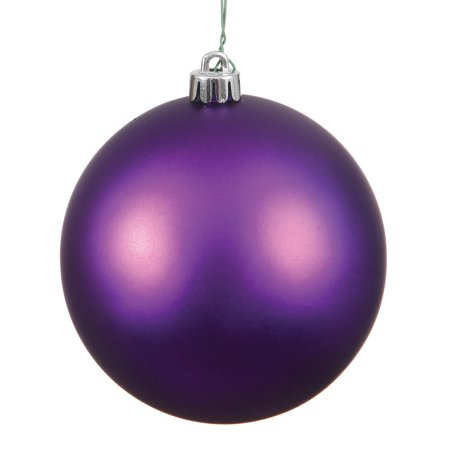 "8"" Plum Matte Finish Ball Ornament"