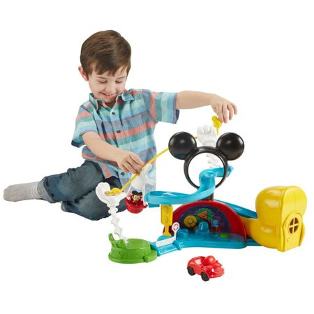 Disney Mickey Mouse Clubhouse Zip Slide And Zoom Clubhouse Play Set